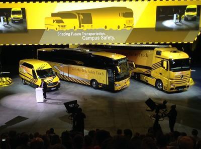 Le secr�taire d'Etat allemand des Transports se prononce en faveur des camions a conduite automatique et des ensembles routiers de grande longueur (photo Gilbert)
