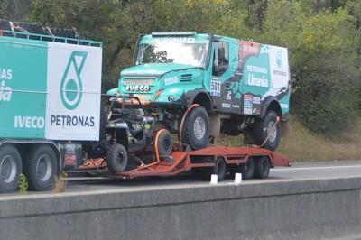 Direction le Maroc pour les camions du team Iveco- Petronas. (Photo X D.R.)