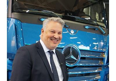 Jean-Marc Driss, le patron de Mercedes Trucks France, souligne � Technotrans que ses trois distributeurs du Grand Ouest savent �tre compl�mentaires tout en jouant chacun son r�le, en pouvant compter sur son voisin pour l'apr�s-vente. (Photo Fr�or)