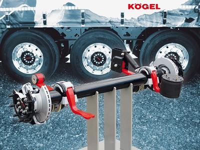 L'essieu KTA, désormais monté sur de nombreuses remorques Kögel