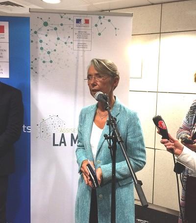 Elisabeth Borne lors du point presse aux Assises nationales de la mobilité (photo Gilbert)