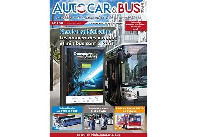 Le salon Transports publics à Paris est  à la une d'Autocar & Bus Infos n°180.