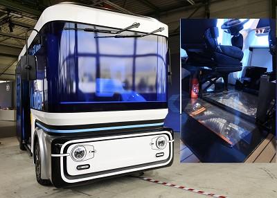 Dans l'e.Go Mover, le système propulsion électrique est placé à l'avant sous le poste de conduite.