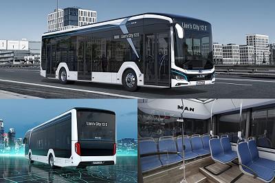 Ci-dessus, détails du futur eBus Lion's City. Man Truck & Bus s'attend à ce qu'environ 66 % des bus de ligne soient électriques d'ici 2030.