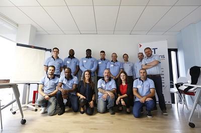 De g. à d. debout : Joseph Delestre (FPF) - Olivier Latournald (IFS) - Léopold Cocoa Kandjo (IFN) - Michael Coulon (CO) - Christophe Le Mero (Br) - Patrice Moreno (FPF RA) - Didier Lopez (FPF MED) - Maxime Delattre (Resp HSE)  Assis : Steven Morvan (MED) - Mhamadi Ali Ousseni (No) - Sabrina Donate (assistante prévention) - Frédéric Tudury (RA) - Jessica Rouillon (assistante prévention) - Yannick Menage (SO).
