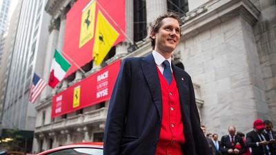 Le président directeur général d'Exor, John Elkann, à New York.