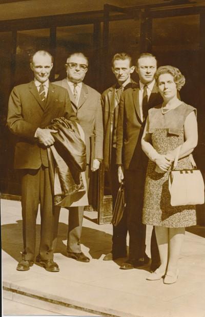 Mariel Ugolini ici avec François de Saulieu, André Damotte, Edouard Lengellé et Jean-Claude Péchin.
