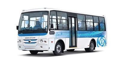 Ashok Lelyand a déjà présenté un projet de véhicule électrique en 2016 le gouvernement ayant lancé un programme de subventions sur les véhicules zéro émission baptisé Fame (Photo AL / X D.R.)