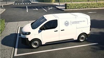 Fin 2020, cet Opel Vivaro sera l'un des utilitaires adaptés pour rouler à l'hydrogène par Stellantis.