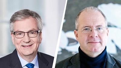 De gauche à droite, Martin Daum (Daimler) et Martin Lundstedt (Volvo).