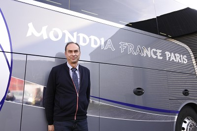Antonio Faria, gérant de Monddia France Paris et porte-parole du collectif (photo Gilbert).