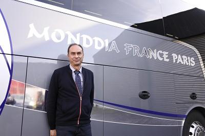 Antonio Faria, gérant de Monddia France Paris et porte-parole du collectif (photo Gilbert).